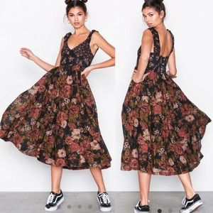NWT Free People Love You Floral Midi Dress, L